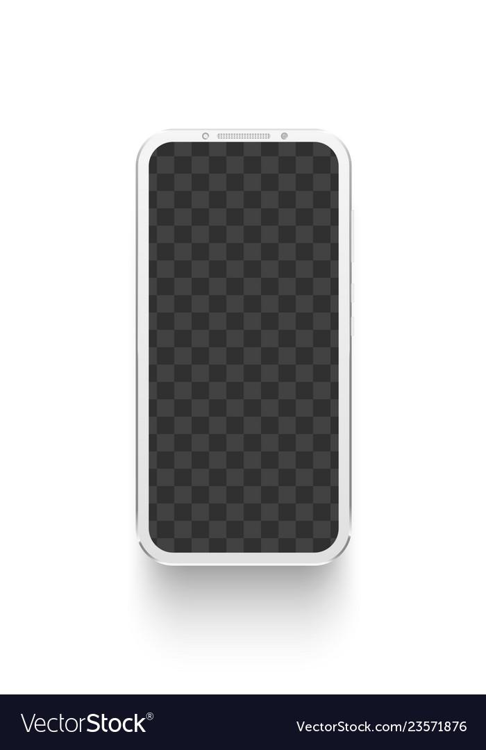 White smartphone mockup electronics device