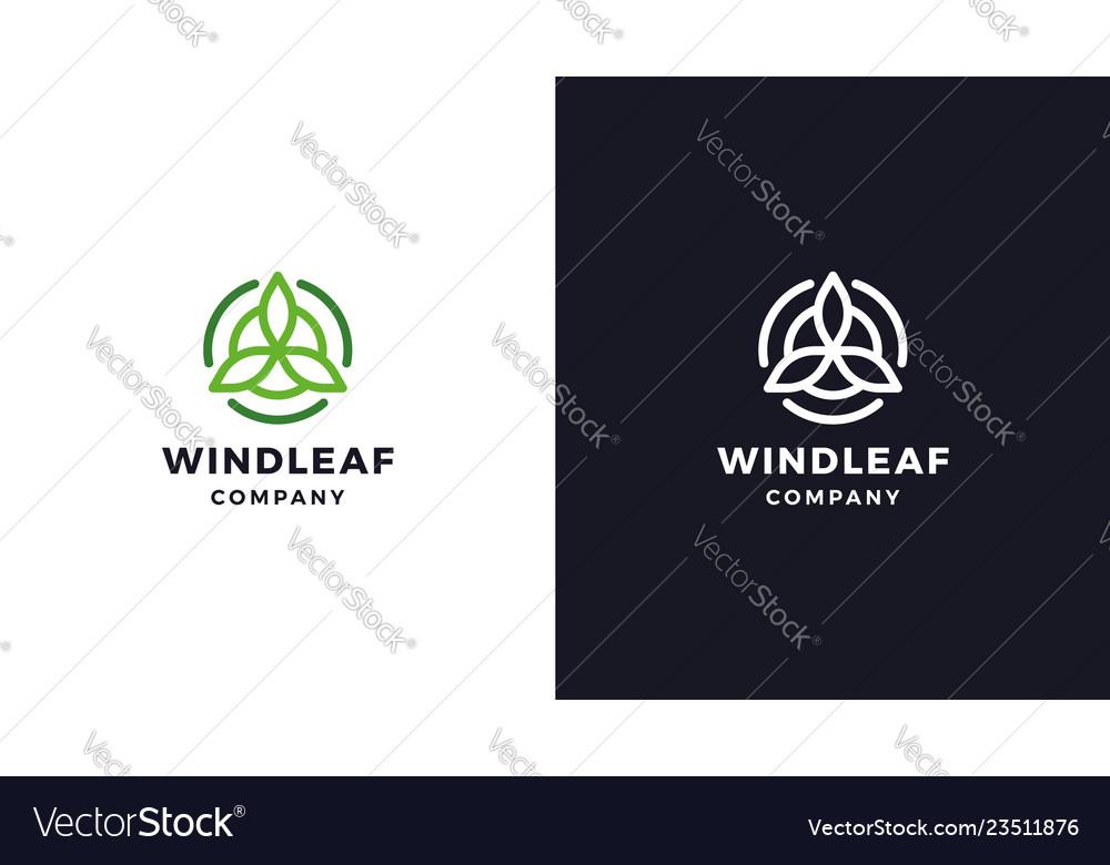 Wind energy logotype template positive