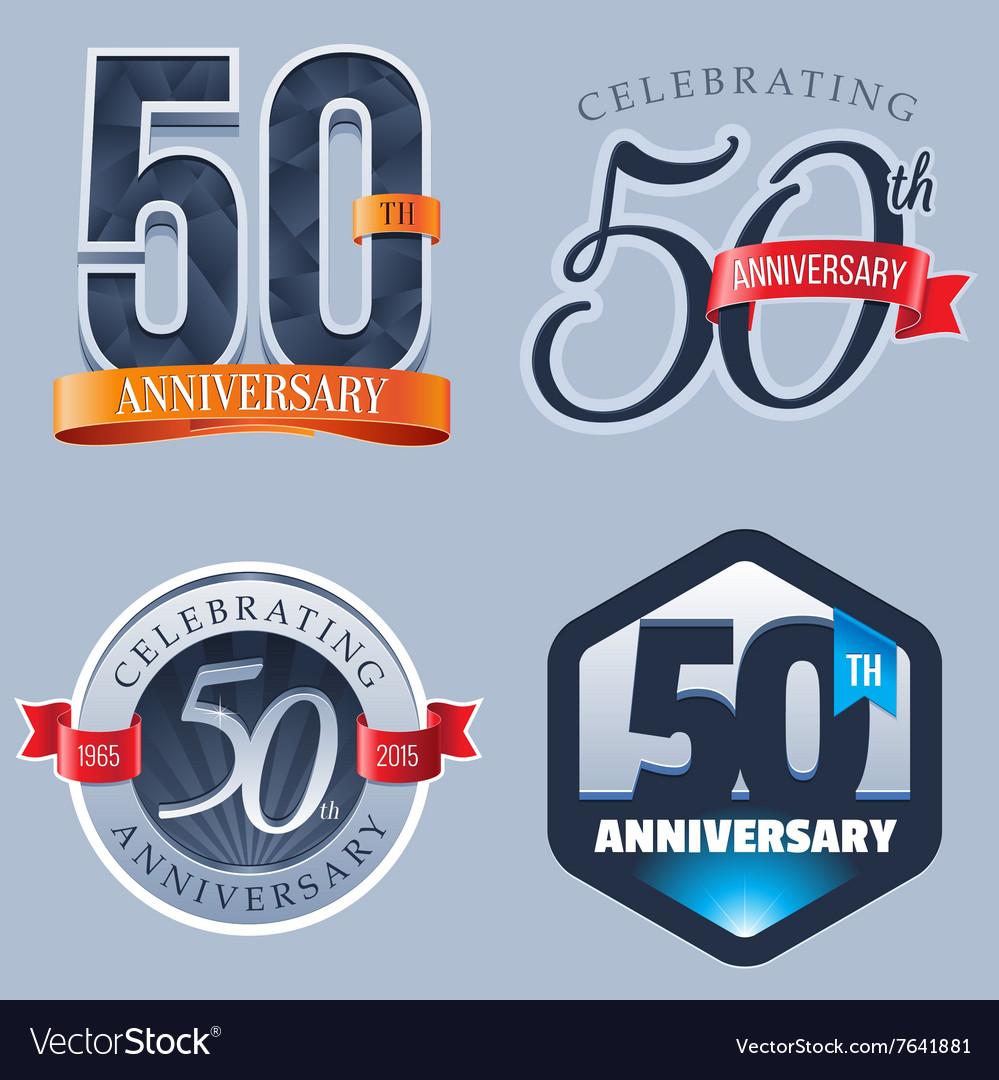 50 Years Anniversary Logo vector image