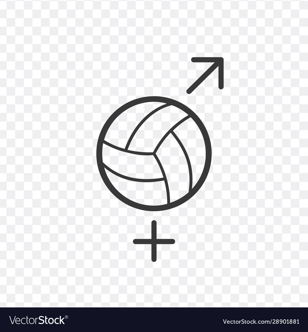 ball logo ball gender icon gender symbol women vector image ball logo ball gender icon gender symbol women vector image