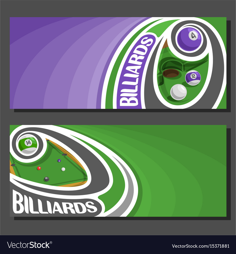 Banners for billiards