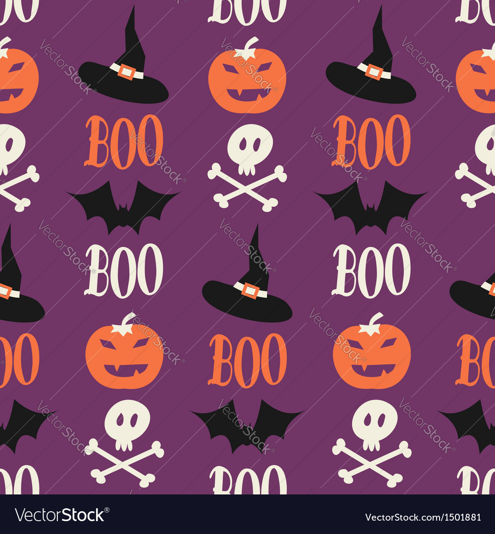 Cute halloween seamless pattern