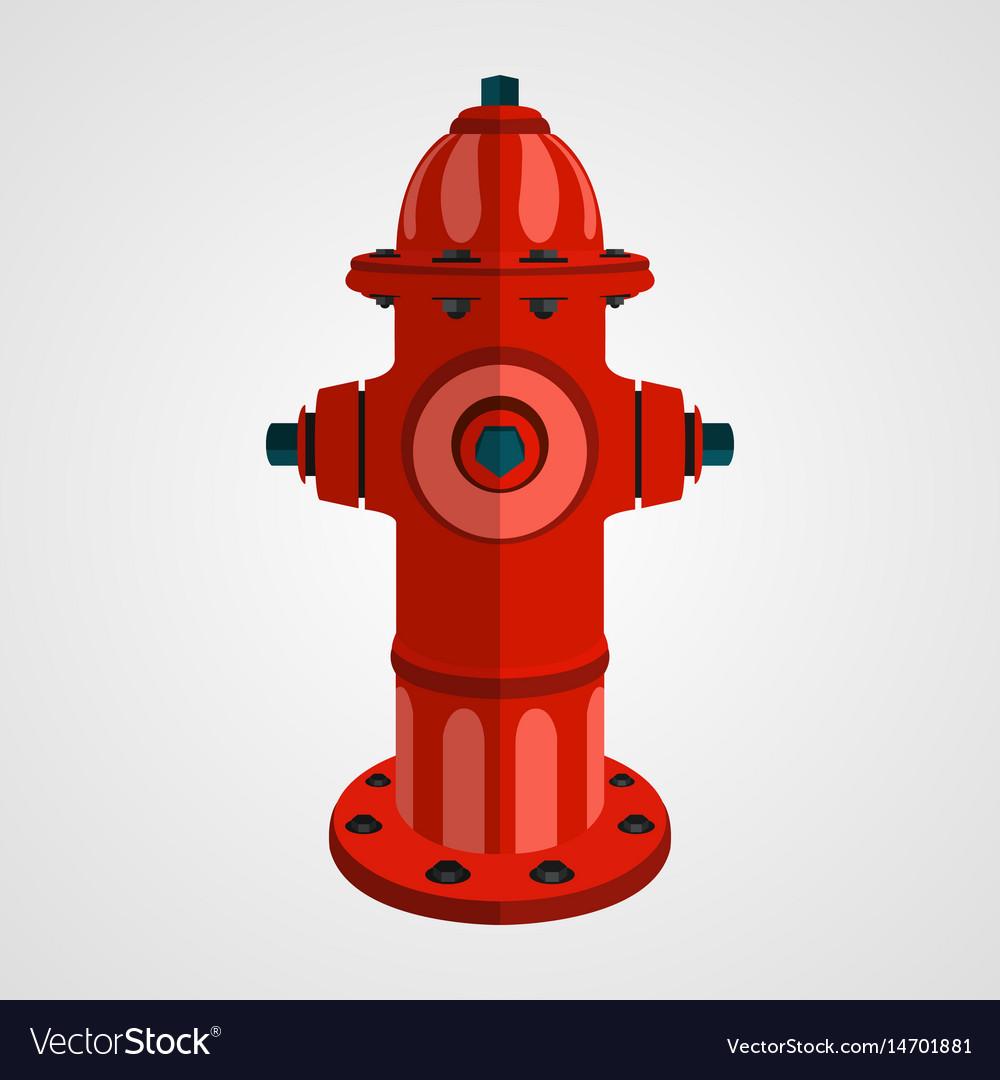 Fire hydrant cartoon vector image