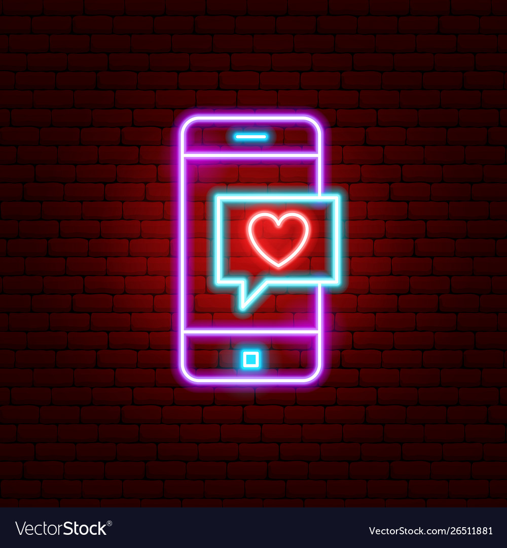 Love phone message neon sign