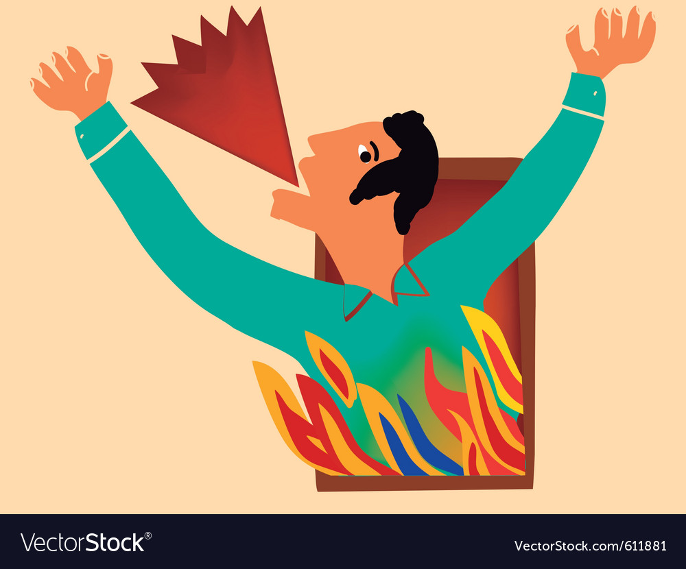 Man shouts for help vector image