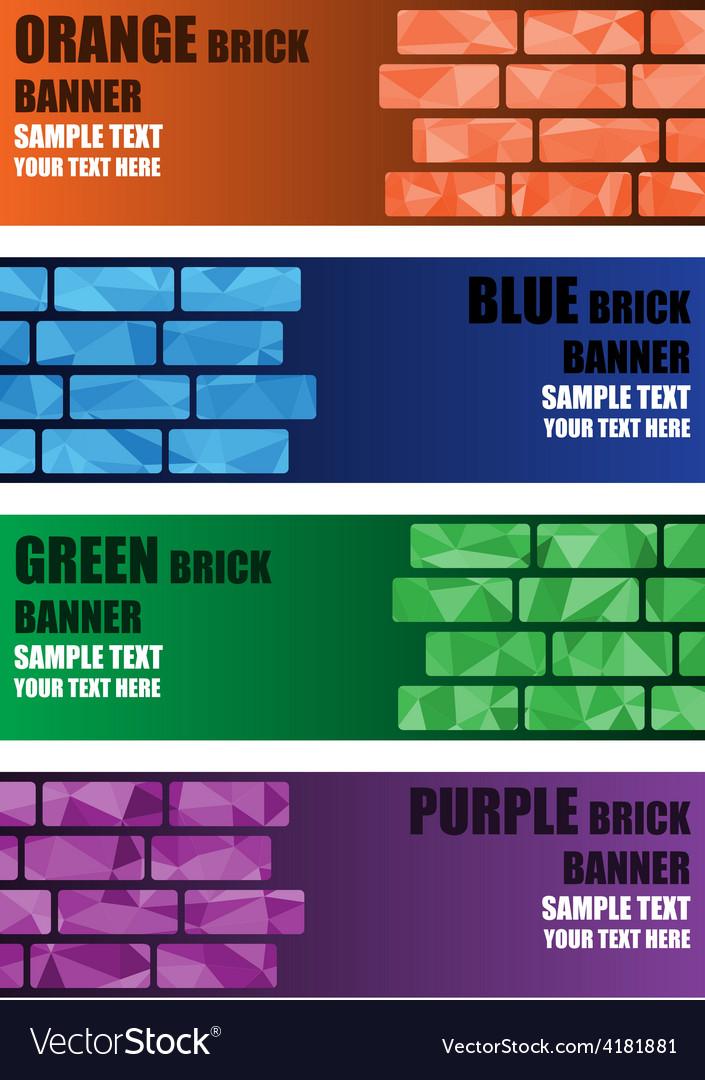 Polygon brick banner