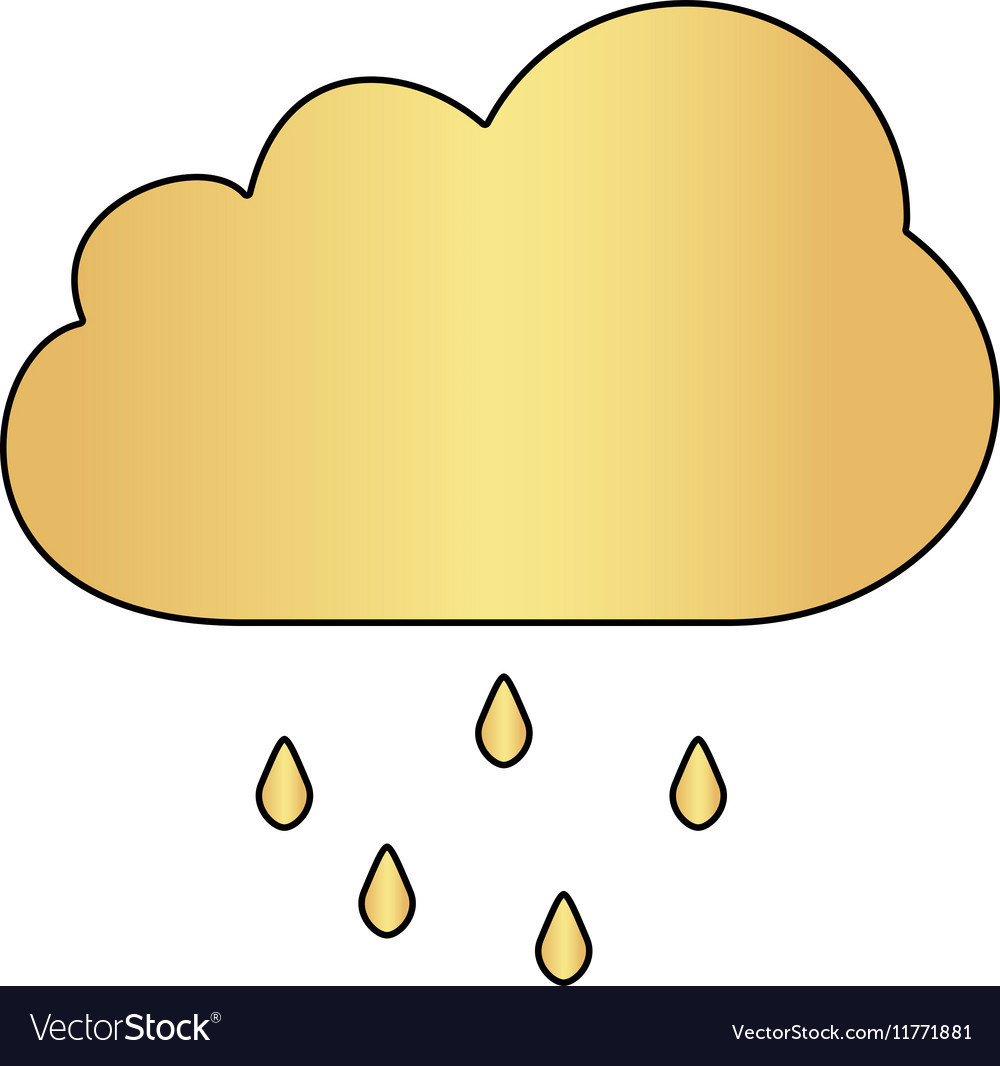 Rain Cloud computer symbol