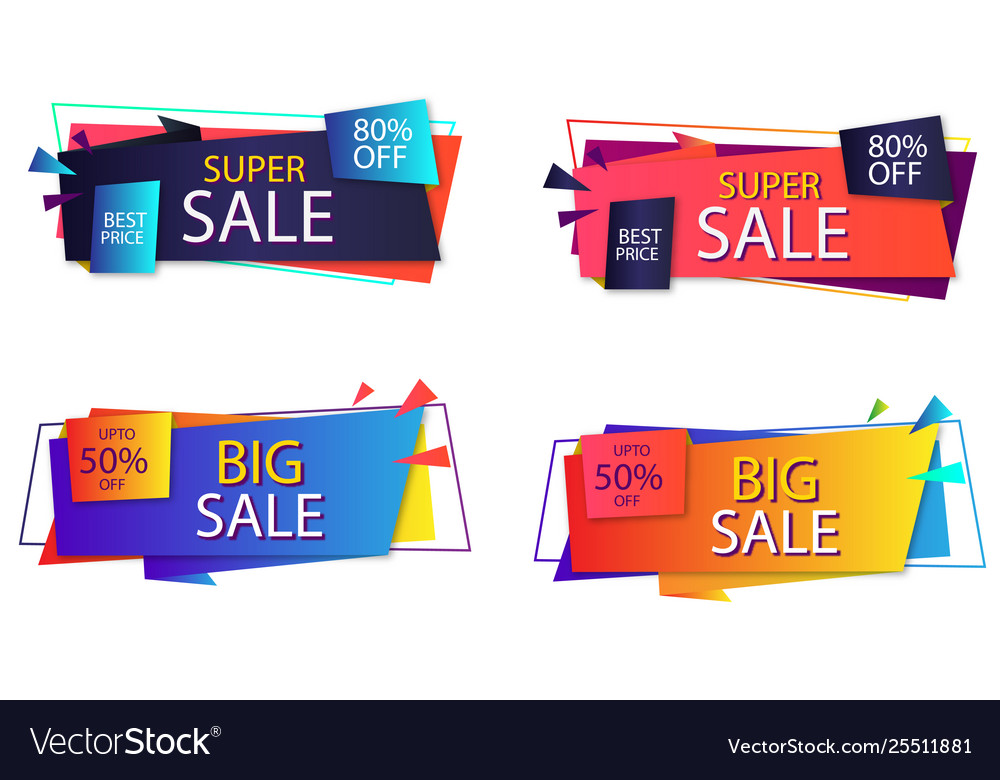 Sales banner template