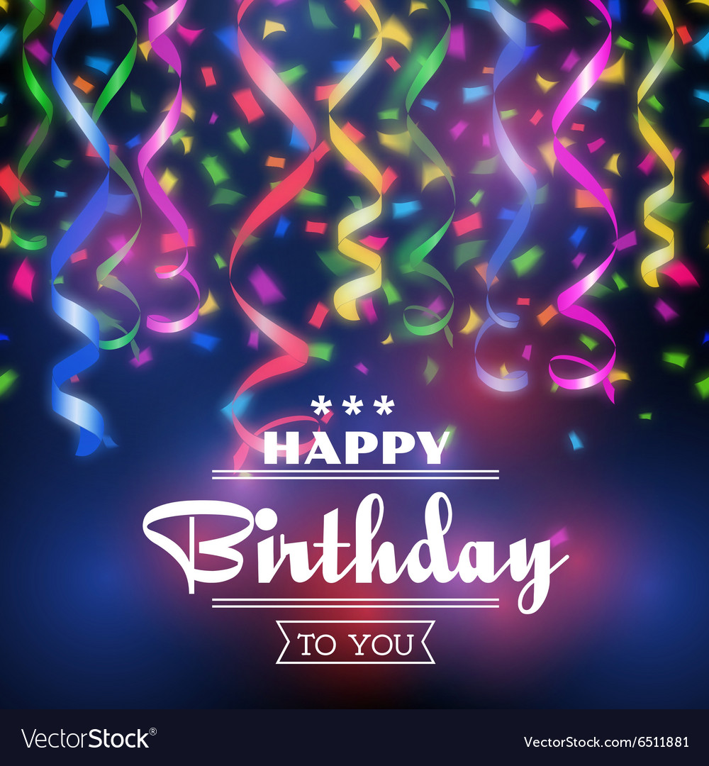 Typographic Happy Birthday Background Royalty Free Vector