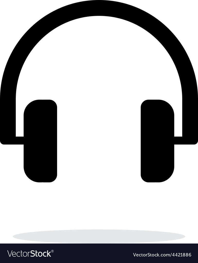 Audio headphones icon on white background vector image