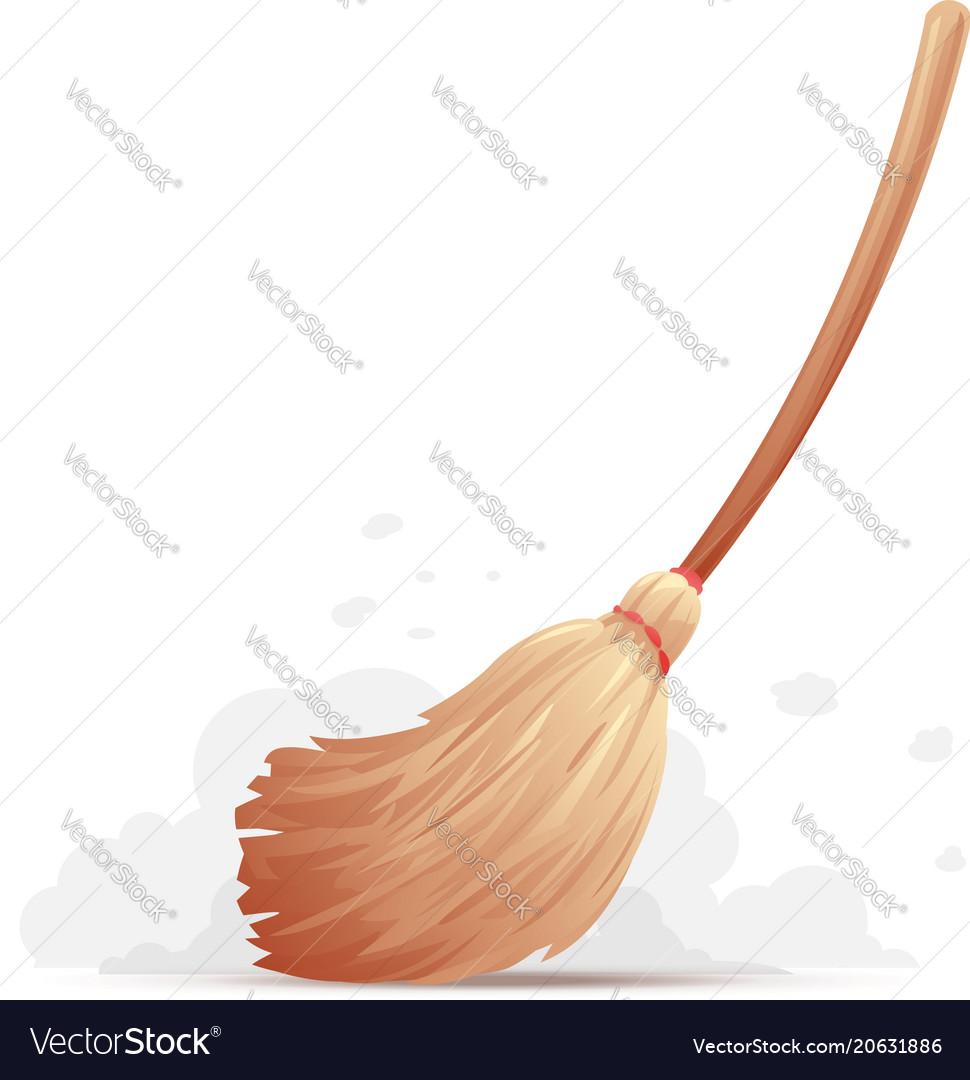 broom sweep floor royalty free vector image vectorstock vectorstock