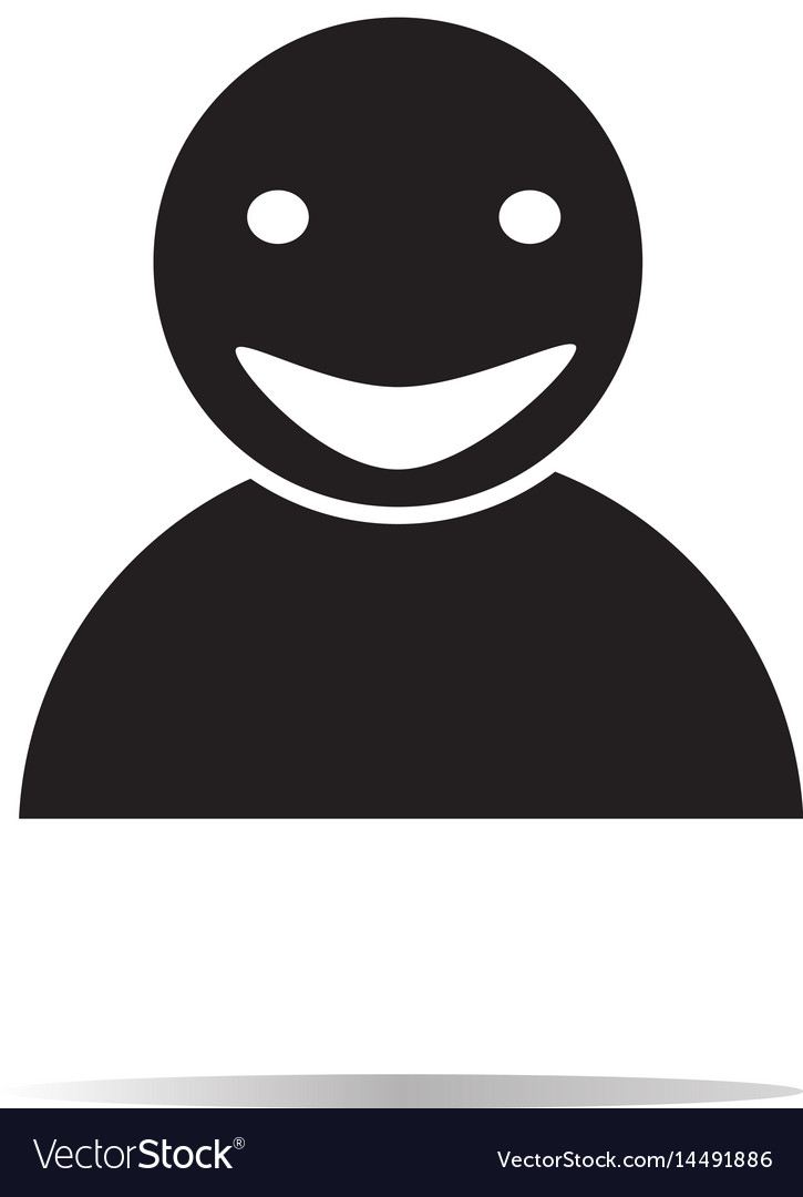 Smile icon on white background smile sign vector image