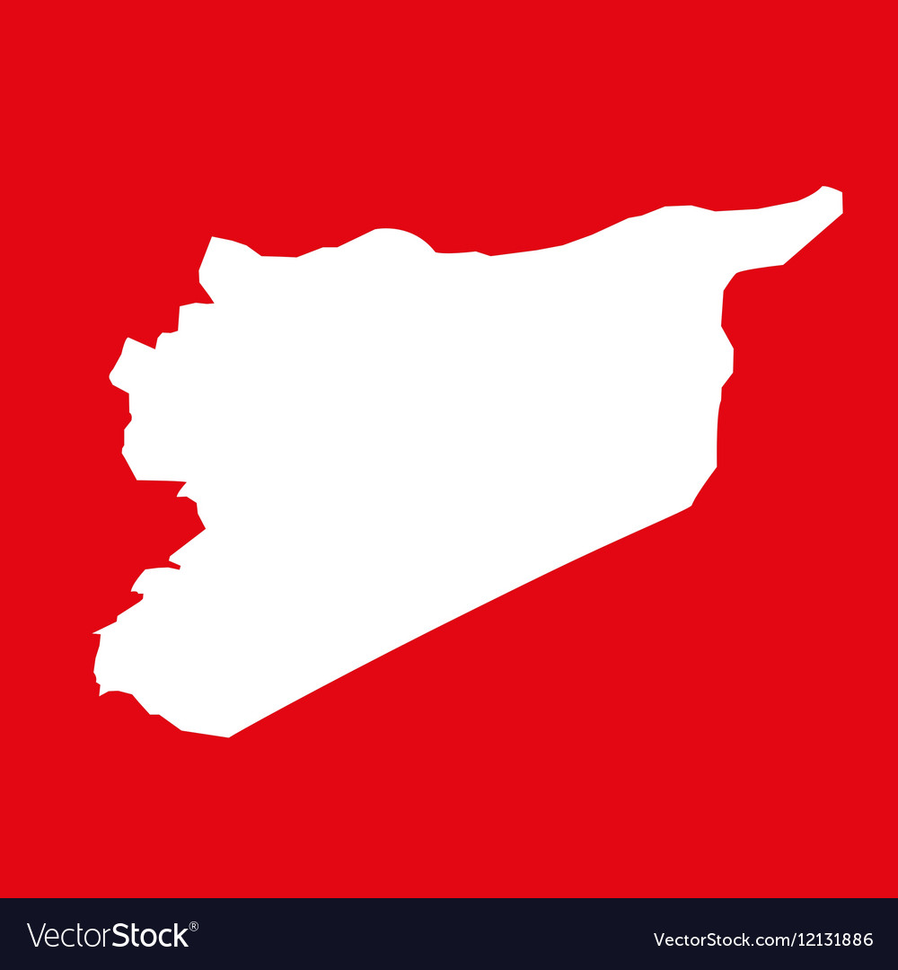 Syria map on res background