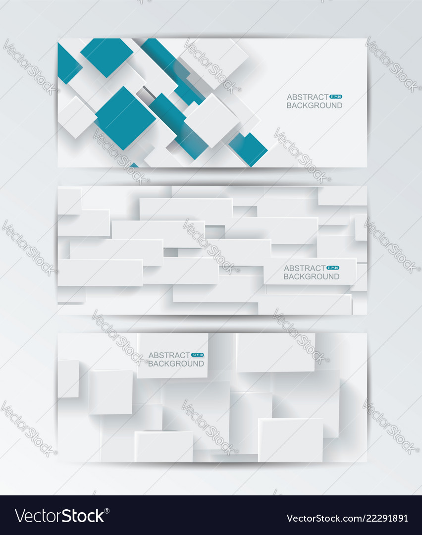 Banner set with abstract geometric shapes
