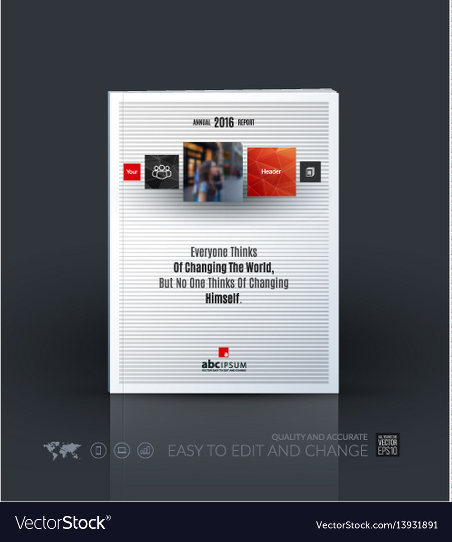 Business template brochure layout cover