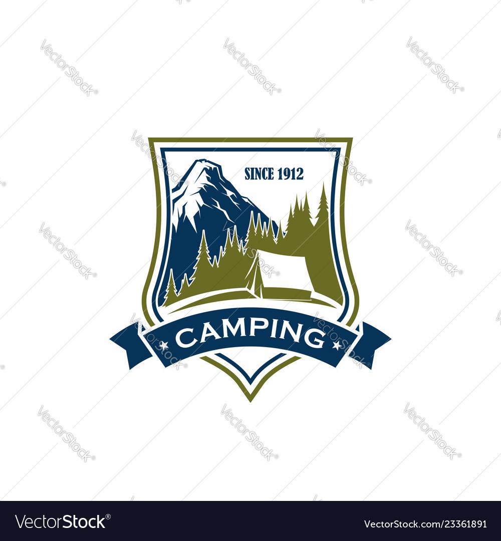 Camping activity sign