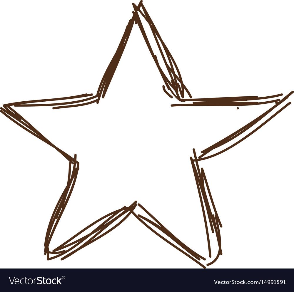 Christmas star light decoration vintage engraved vector image