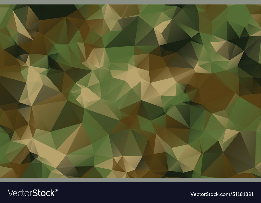 Low poly style camouflage pattern texture