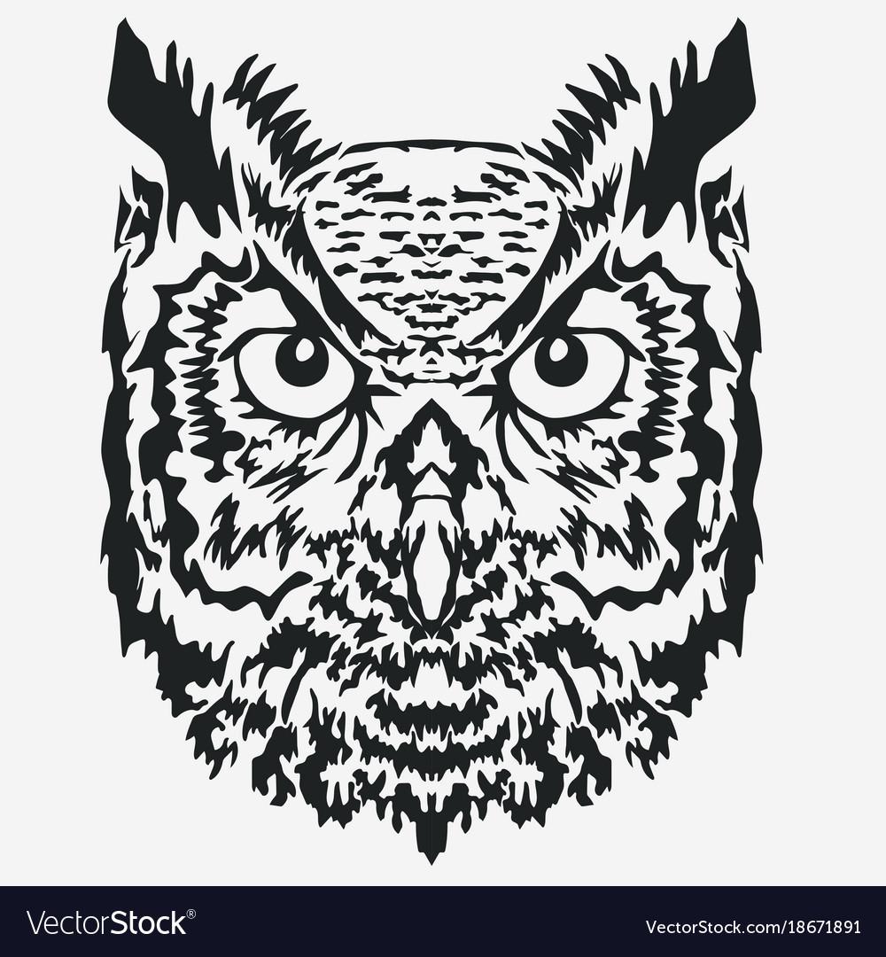 Owl mascot head character