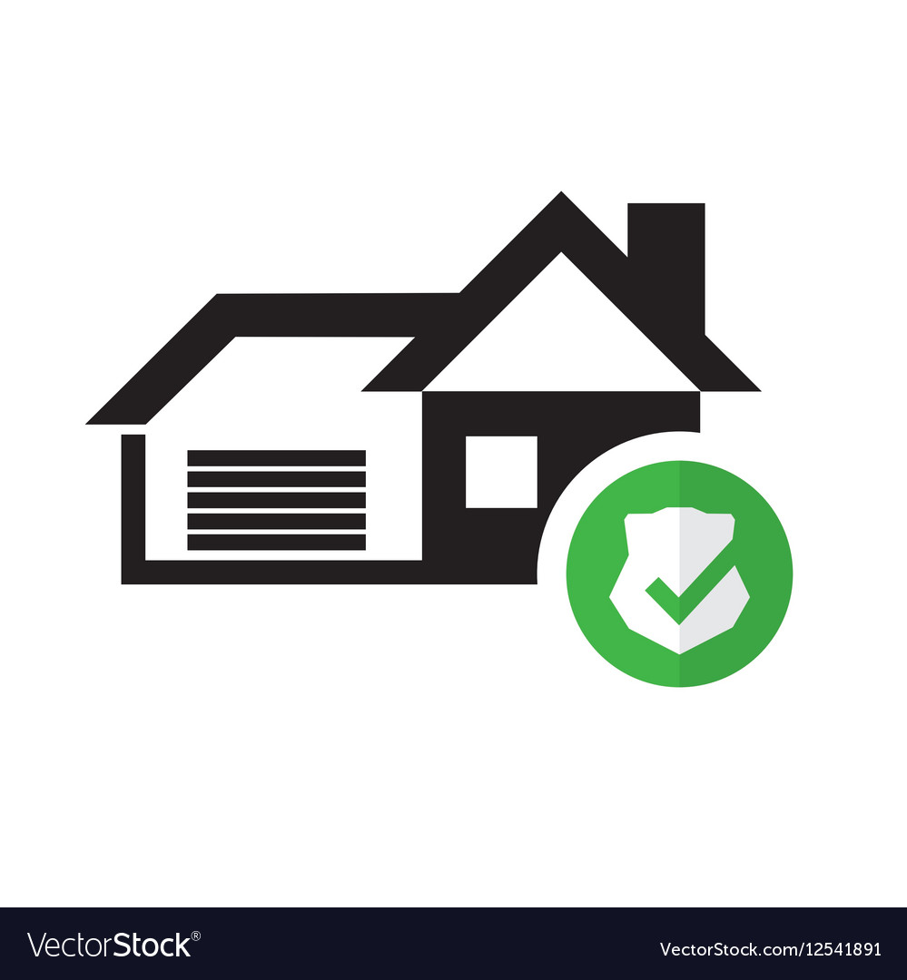 Pictogram home security graphic icon vector image
