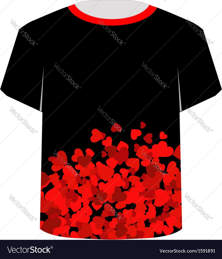 Printable tshirt graphic- Heart tee