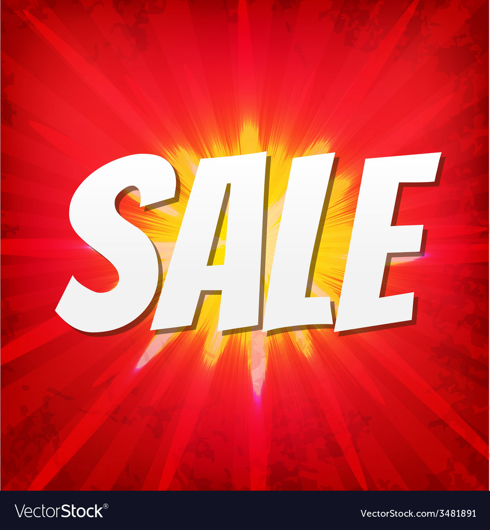 Sale Red Poster