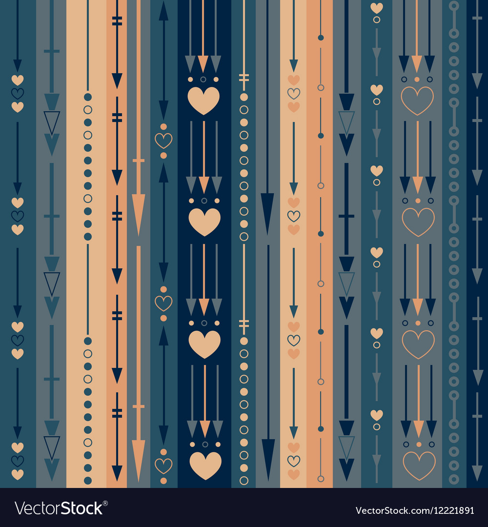 Seamless pattern of the color vertical arrows