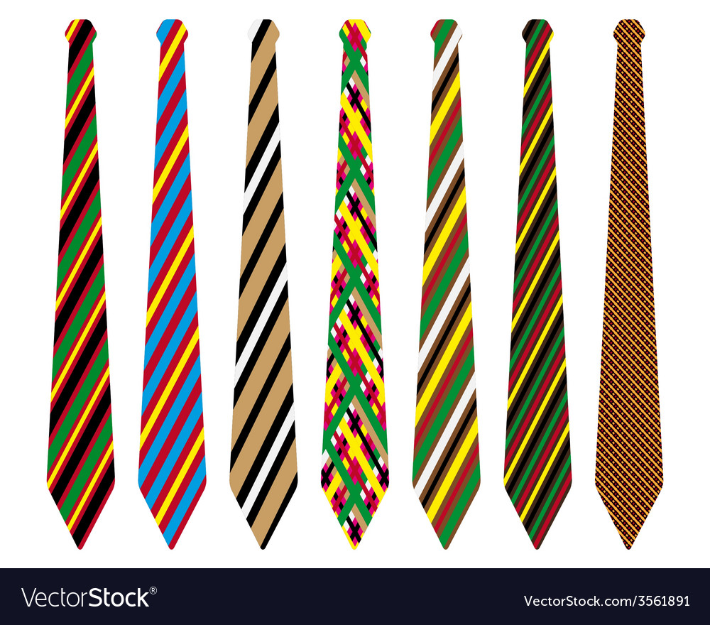 Striped ties vector image
