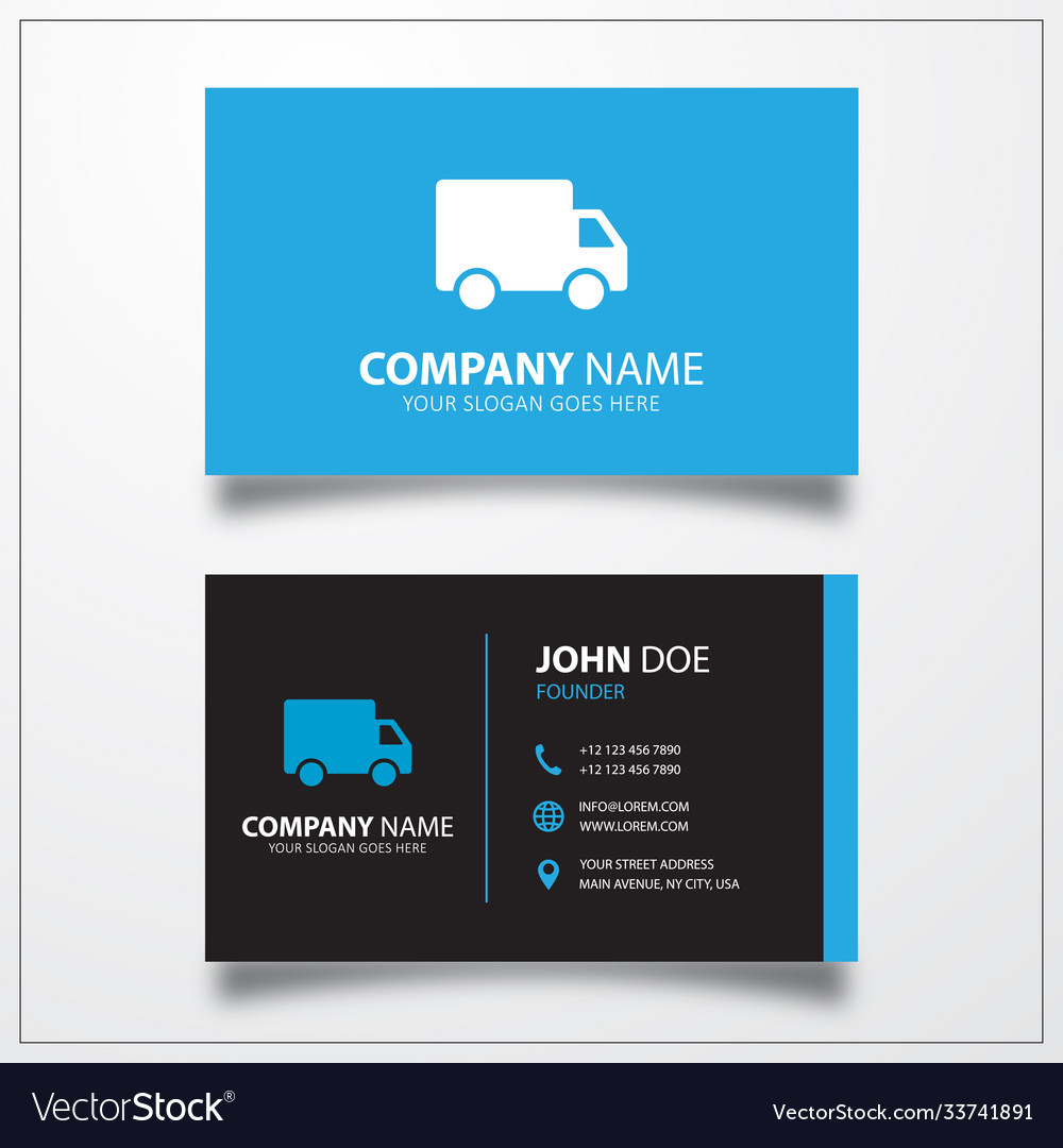 Truck delivery shipping icon business card
