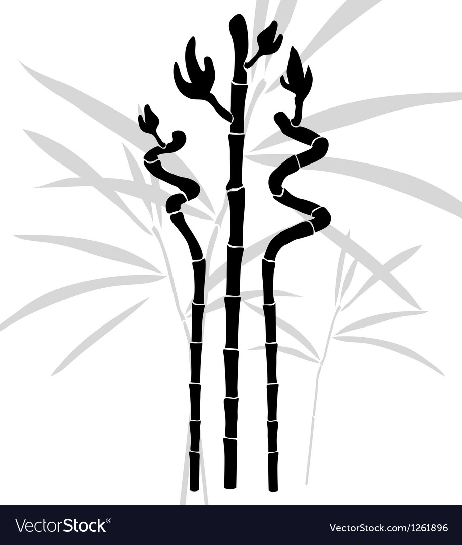 Abstract bamboo vector image