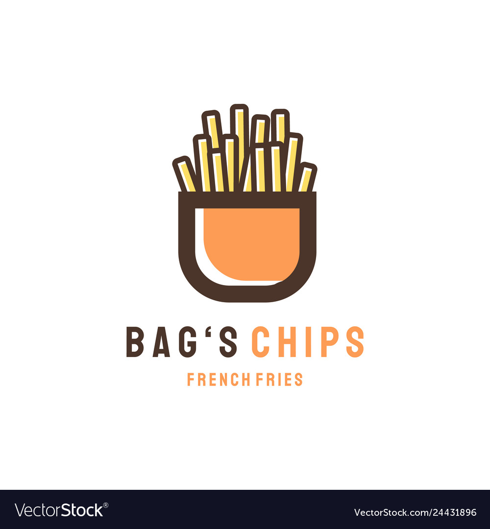 Bags chips logo designs modern concept