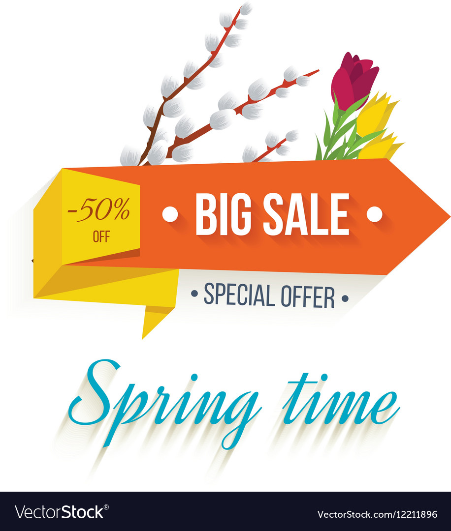 Big Sale banner on a white background