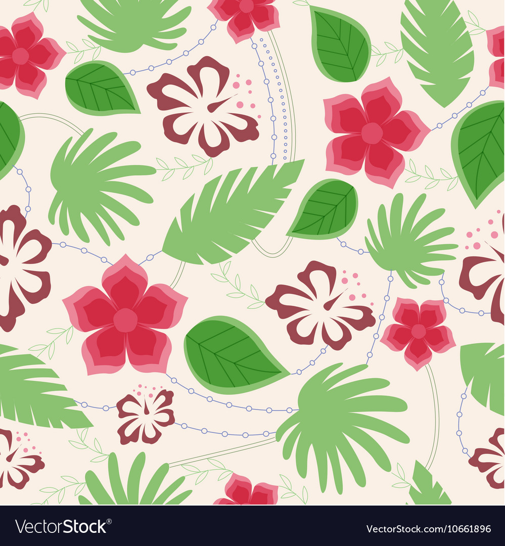 Hawaiian seamless pattern vintage vector image