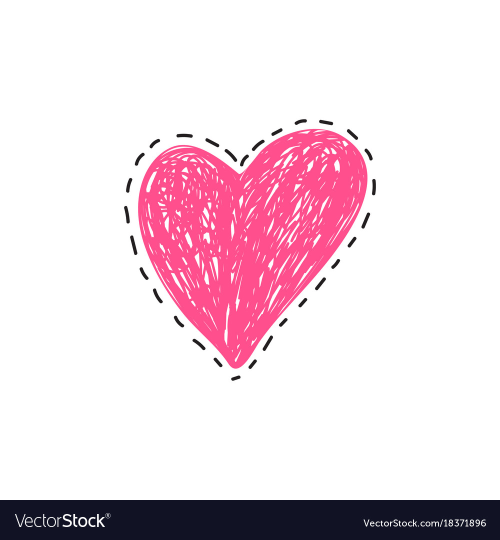 Poster with scribble heart