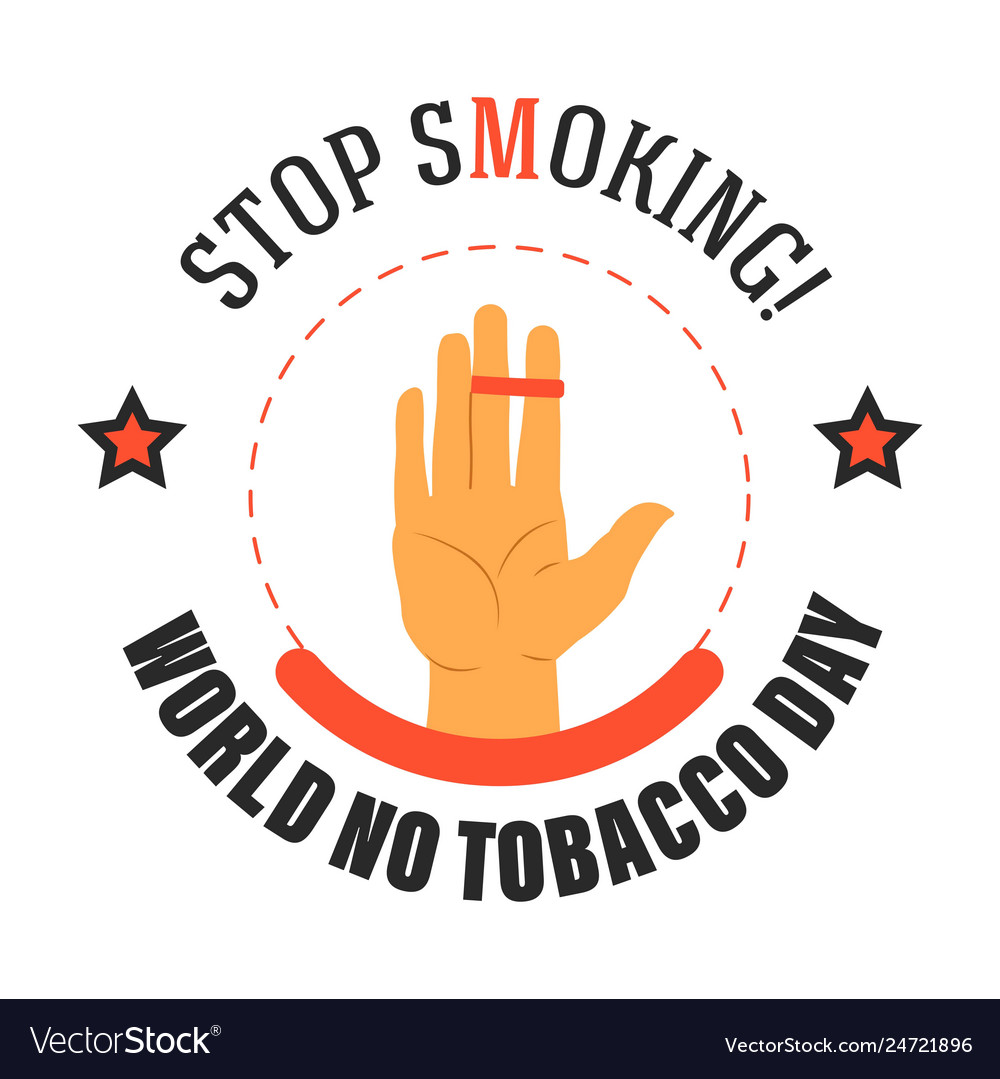 Stop smoking world no tobacco day isolated icon