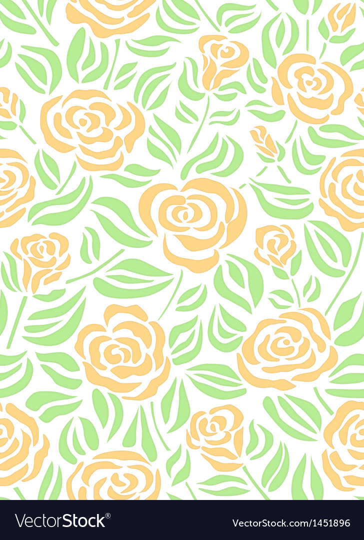 Summer floral pattern with roses