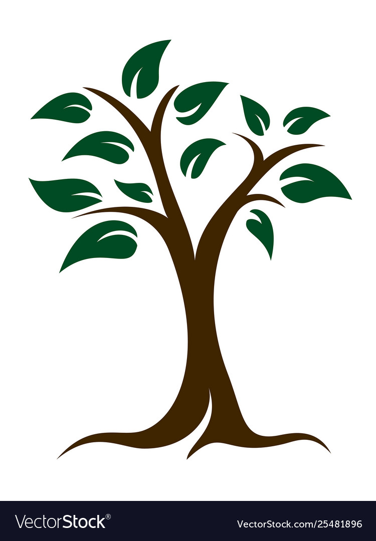 Tree and leaves logo