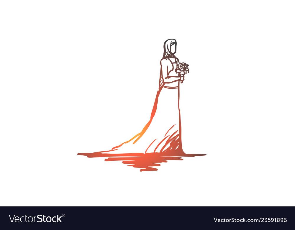 Wedding bride muslim arabic islam concept