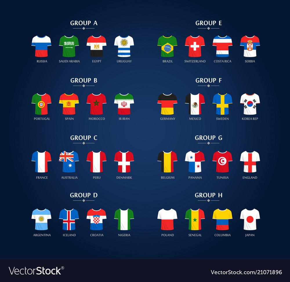 World soccer championship groups football