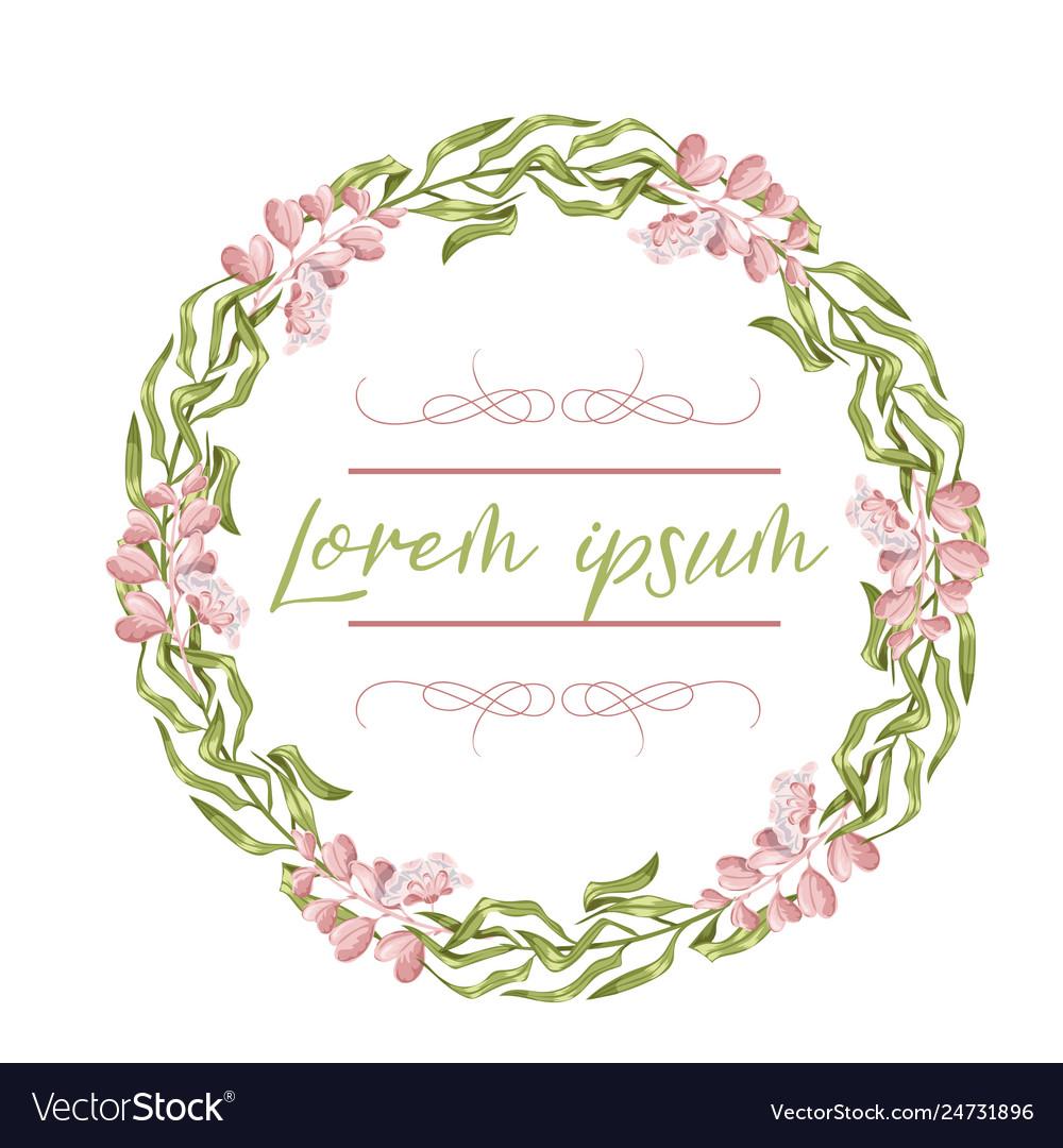 Wreath floral frame watercolor flowers peonies