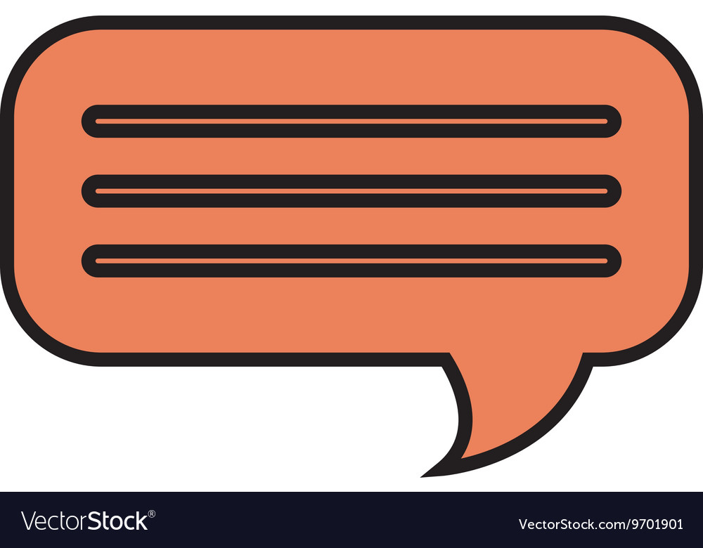 Chat bubble isolated flat icon design