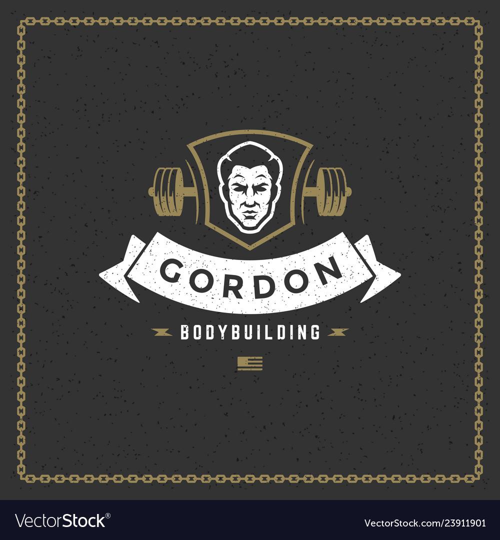 Fitness gym badge or emblem