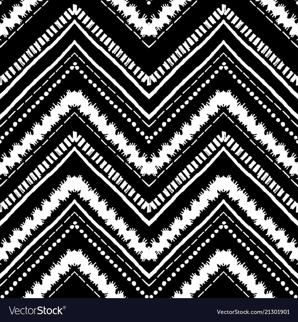 Hand drawn pattern zigzag and stripe line