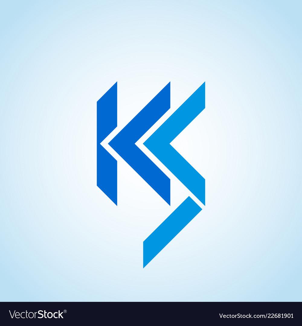 Ks ics or lcs company logo template