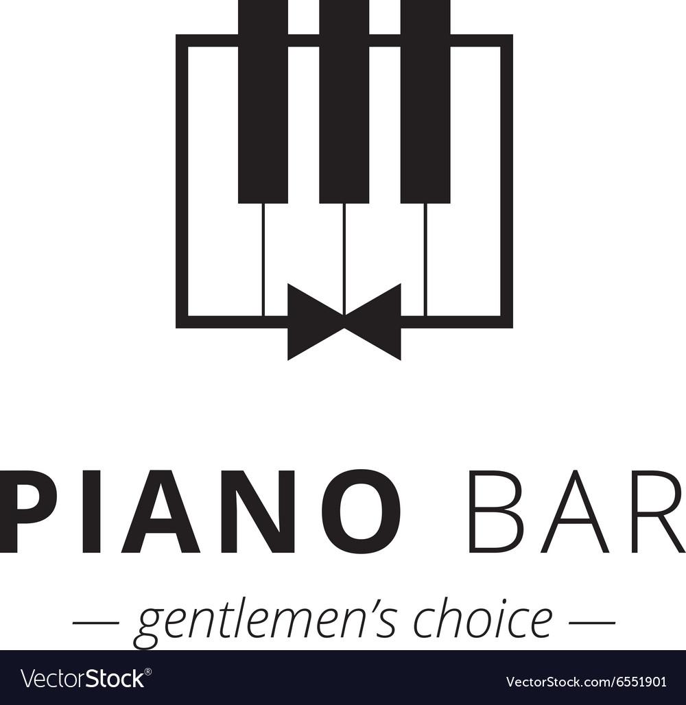 Minimalistic piano logo Music sign