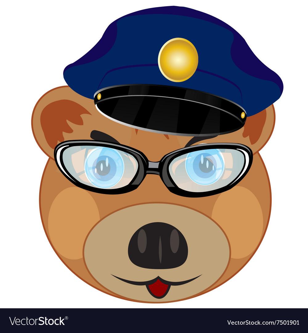 Portrait bear police