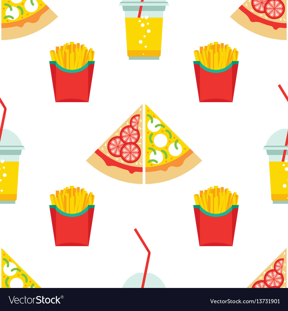Seamless pattern fast food
