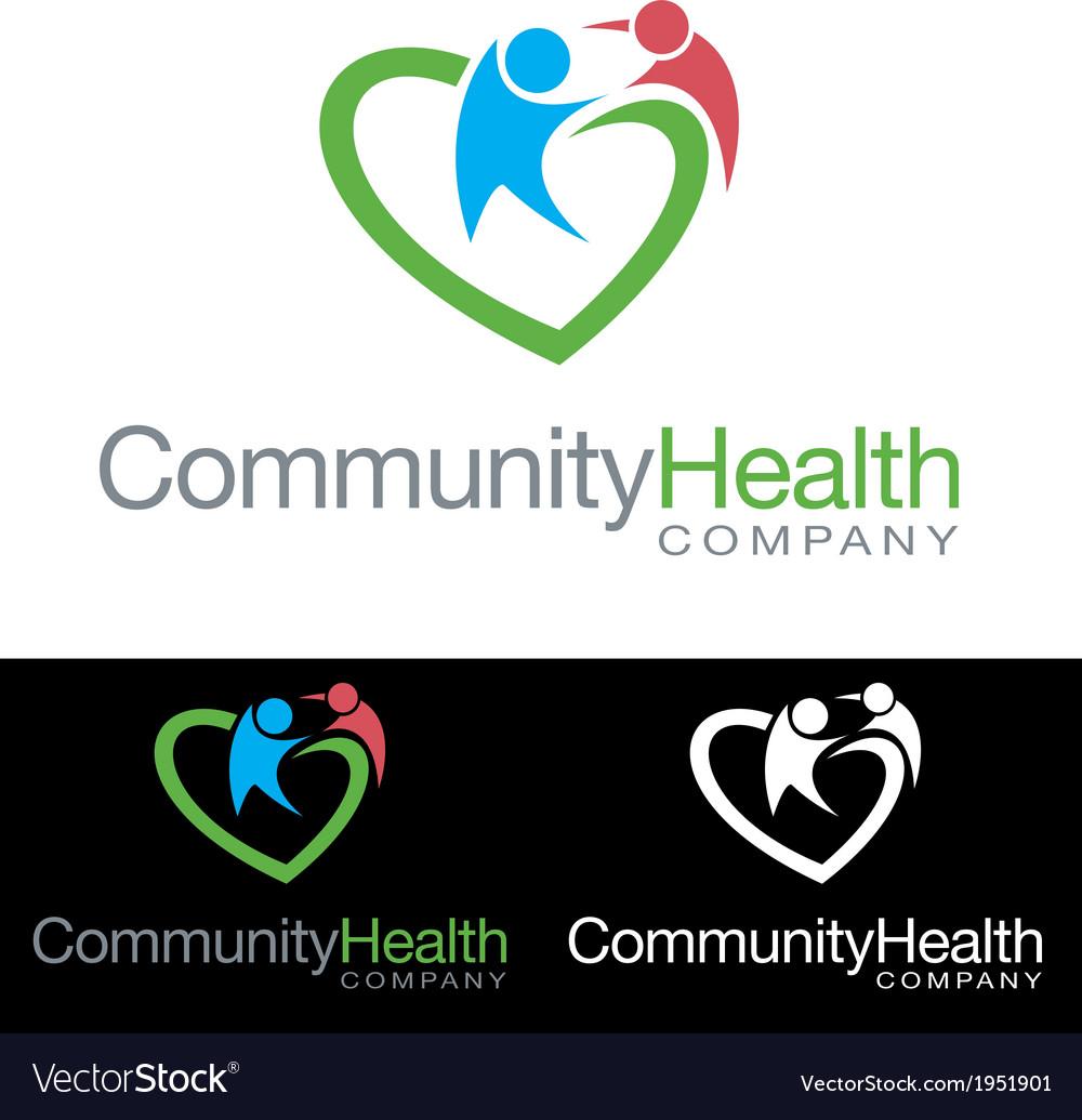 Social community health company icon logo