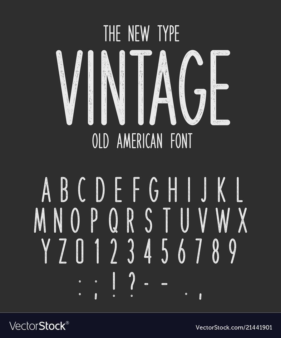 vintage narrow type modern letters design old vector image