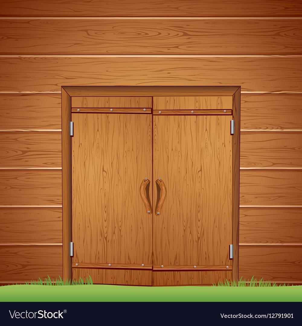 Wooden Barn Door Image Royalty Free Vector Image
